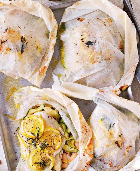 Steamed Fish & Vegetable Parcels