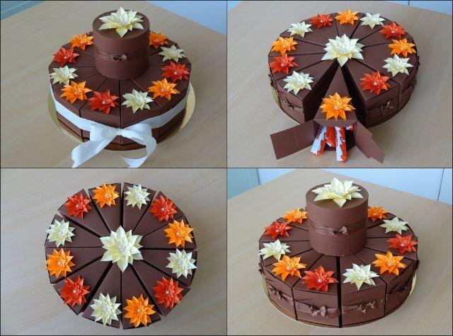 narozeninový čoko dort z papíru