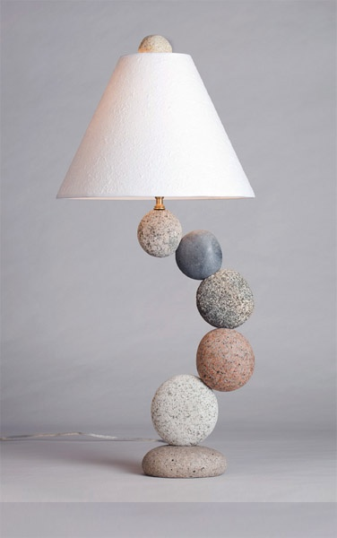Made from all-natural ocean and river stones by Funky Rock Designs