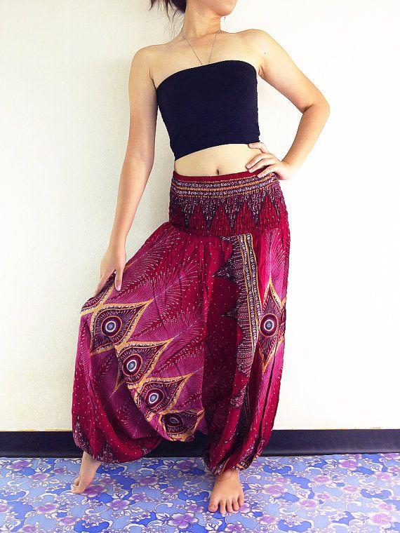Women Harem Pants Yoga Pants Drop Crotch by NaughtyGirlShop
