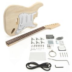 Know a guitar lover who has it all? Get them a build your own guitar kit! One of many models, the LA Electric Guitar DIY Kit has all of the guitar hardware and components you need!