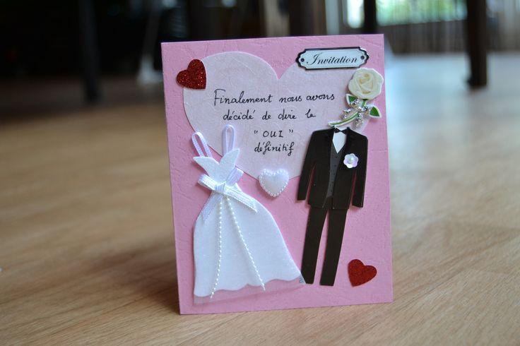 faire part mariage | Faire part mariage, Cartes faites ...