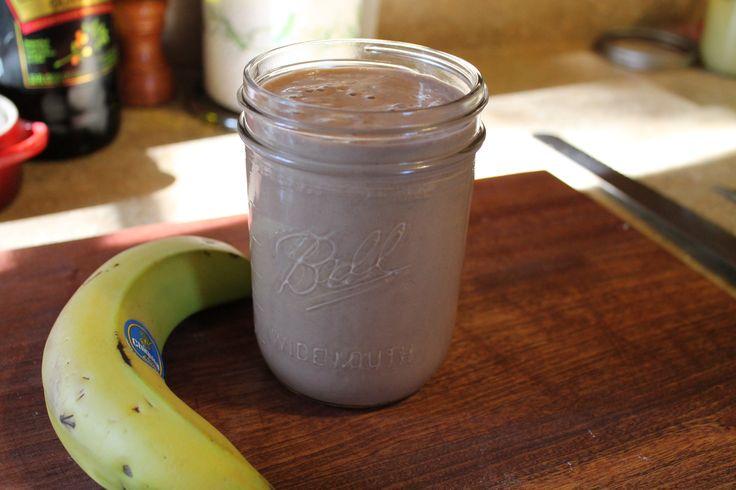 Chocolate, Banana, and Almond Milk Smoothie