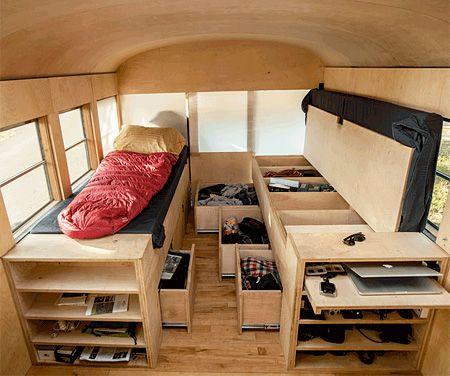 Living in a School Bus
