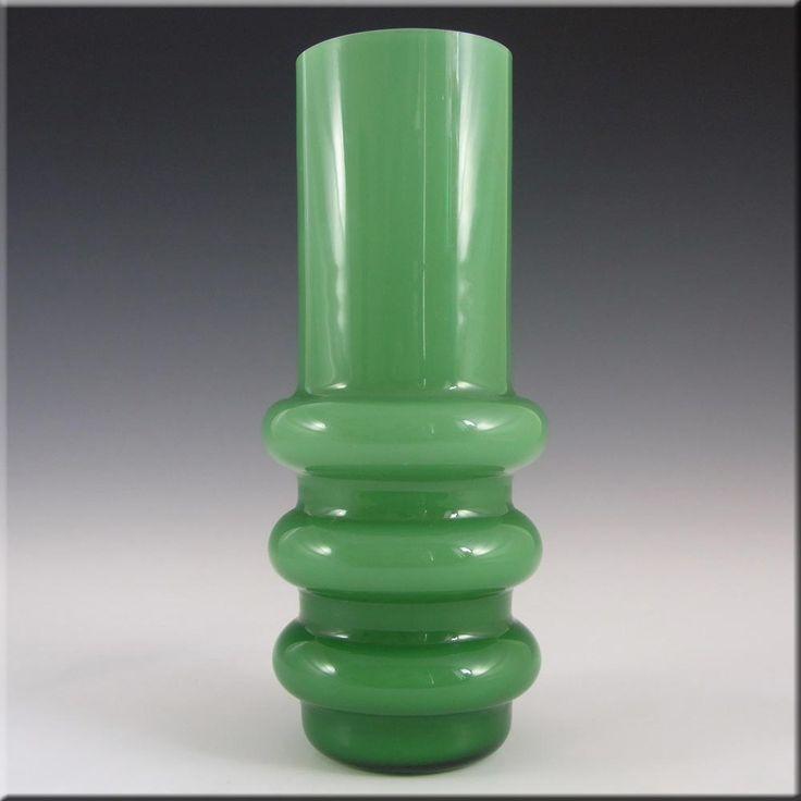 Ryd 1970's Swedish/Scandinavian Green Glass Hooped Vase - £49.99