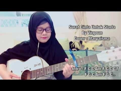 Surat Cinta Untuk Starla - Virgoun (Gitar Cover)With Lirik - Beken.id