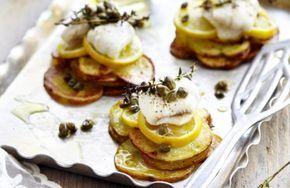 Aardappel-courgettetaartjes met pladijs