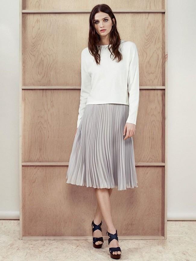 falda plisada largura midi / Mango