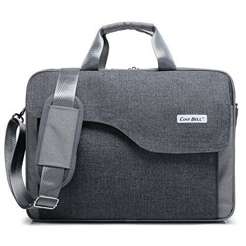 Laptop Bag Case Shoulder Messenger Briefcase Pc Mac Tablet Handbag Modern Gray #LaptopBag