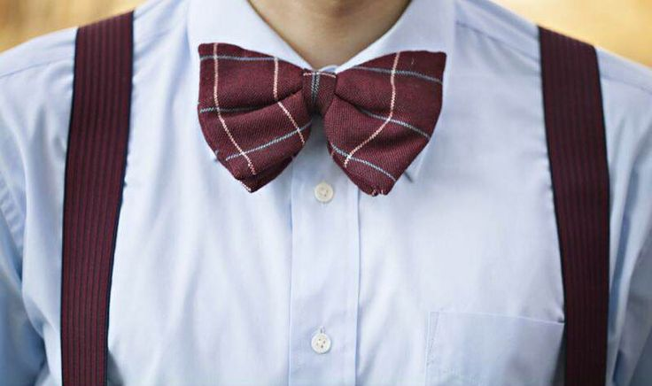Duckegg Blue and Burgundy Bow tie and suite