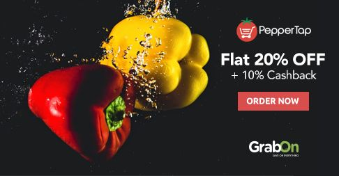 When You Can Save More @ Online Grocery Shopping, Then Why Go To A Supermarket. #PepperTap Offers Flat 20% Off + 10% Cashback Via #Paytm.  #SaveOnGrabOn