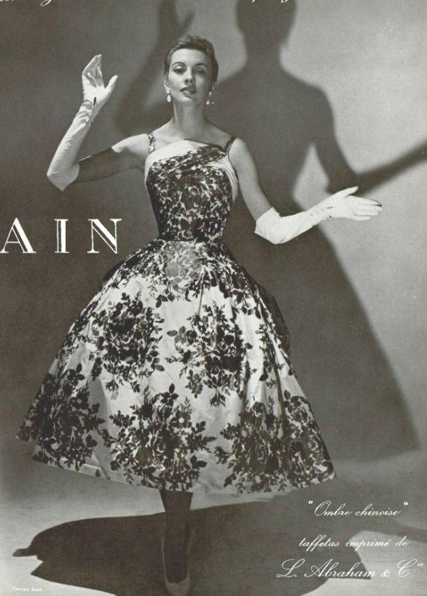 "1955 Pierre Balmain ""Ombres Chinoises "" dress"