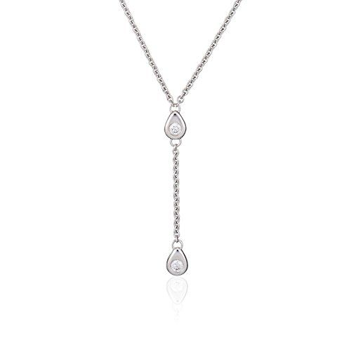 Orphelia-Damen-Halskette-18-Karat-Gold-750-2-Diamanten-020-Karat-Weigold-rhodiniert-wei-Rundschliff