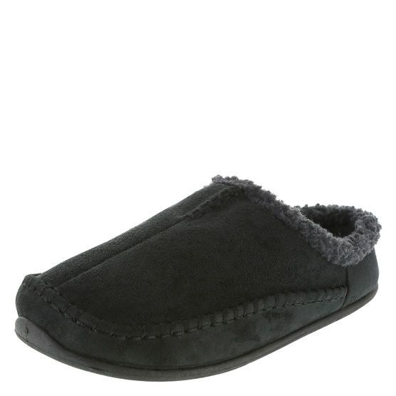 Give the gift of comfort with these Leroy Scuff slip on slippers. t features a faux suede fabric upper, cozy faux fleece trim and lining, heavily padded insole for comfort, and a non-marking, flexible outsole.