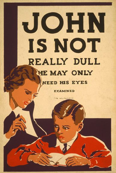 Vintage ad for eye-exams
