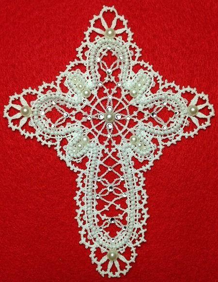 Advanced Embroidery Designs - Freestanding Battenberg Lace Cross