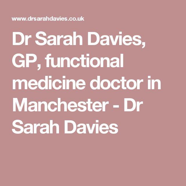 Dr Sarah Davies, GP, functional medicine doctor in Manchester - Dr Sarah Davies