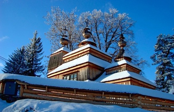 SLOVAKIA - Wooden church, Svidnik region