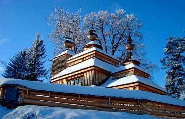 SLOVAKIA - Wooden church, Svidnik region