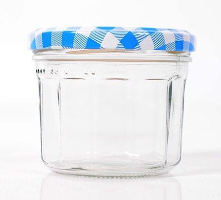 Jampot 240 ml met facetten