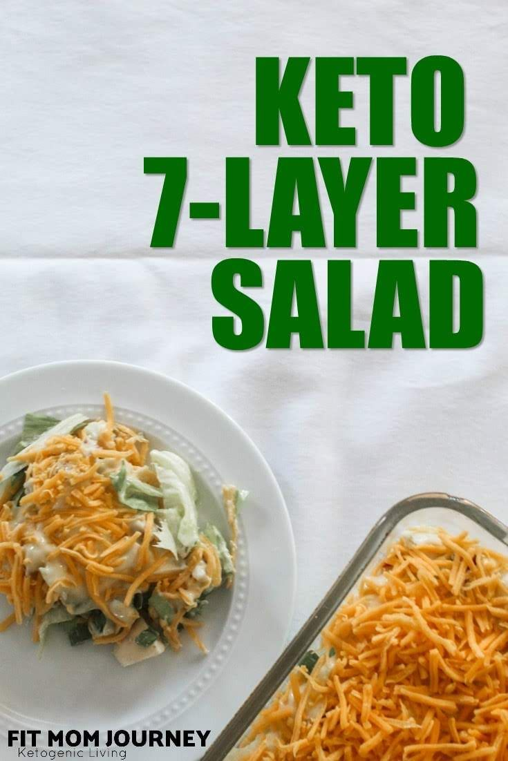 Keto 7 Layer Salad Recipe With Images Layered Salad 7 Layer Salad Low Carb Salad