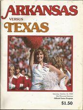arkansas football 1973 | ARKANSAS RAZORBACKS VS TEXAS LONGHORNS FOOTBALL TICKET STUB PROGRAM ...