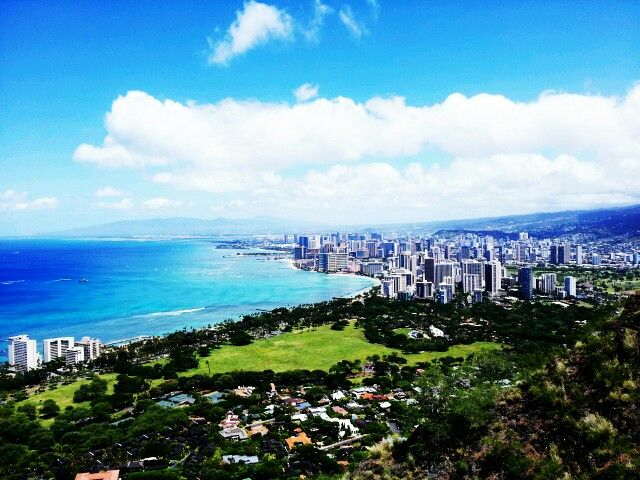 Waikiki view from diamond head