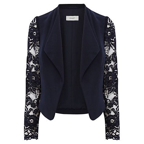 Buy Coast Mirette Jacket, Navy Online at johnlewis.com