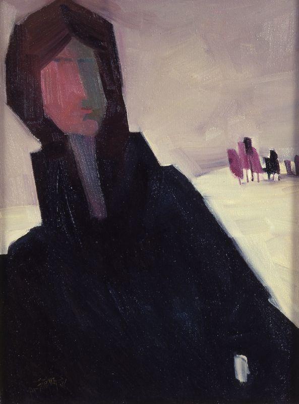 Woman in Black by Claude Le Sauveur