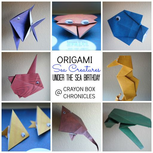 origami sea creatures instructions