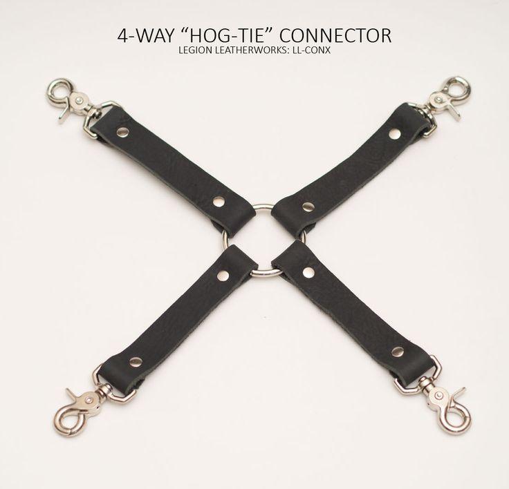 "4-Way ""Hog-Tie"" Connector with Snaps (LL-CONX) by LegionBDSM on Etsy https://www.etsy.com/listing/251807013/4-way-hog-tie-connector-with-snaps-ll"