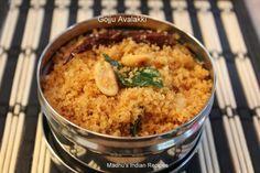Navratri recipes- Day 6: Gojju Avalakki (Poha/Atukulu/flaked rice in spicy tamarind sauce) | Madhu's Everyday Indian