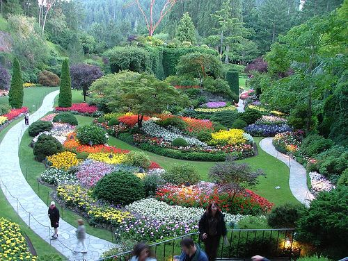 Sunken Gardens, Butchart Gardens, Victoria, British Columbia. by Jeffrey Beall, via Flickr
