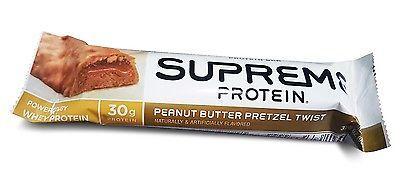 9 Supreme Protein Bar Peanut Butter Pretzel twist 30g Protein 3.38 OZ BAR