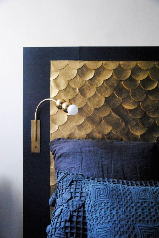 Die besten 25+ blaues Kopfteil Ideen auf Pinterest Marine - franzosischen stil interieur ideen