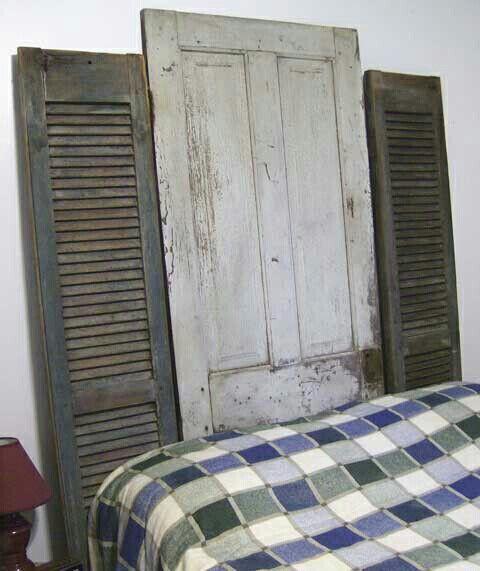 1000 id es sur le th me t tes de lit volets sur pinterest volets t tes d - Tete de lit avec vieux volets ...