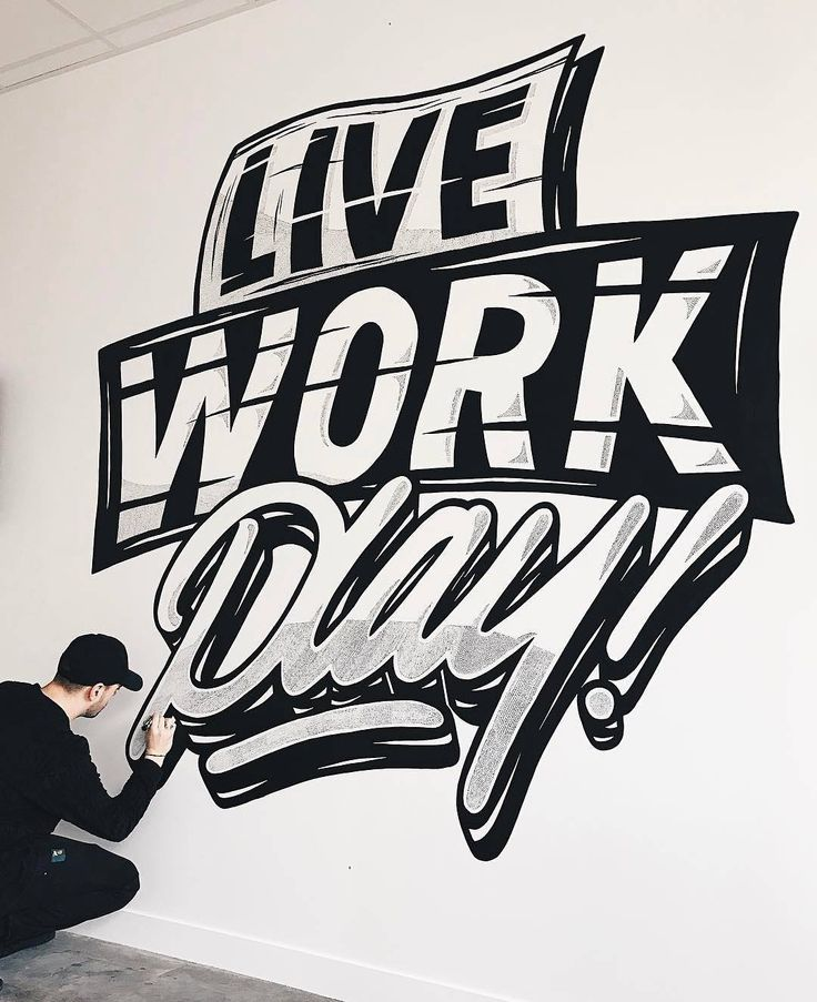 Love this mural. Type by @nairone - #typegang - free fonts at typegang.com | typegang.com #typegang #typography