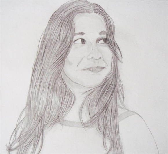 Desenho em grafite feito em papel canson A4. Faço desenhos a partir de fotos.  * Na ilustração Lígia Zerrenner Martines R$50,00