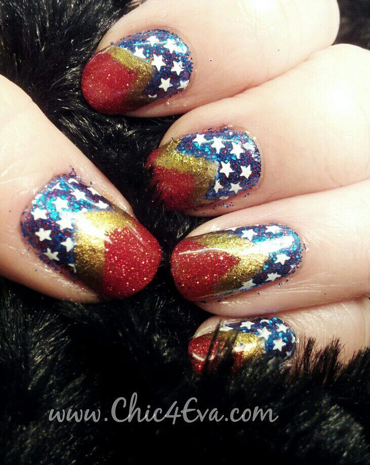 25+ Best Ideas About Wonder Woman Nails On Pinterest