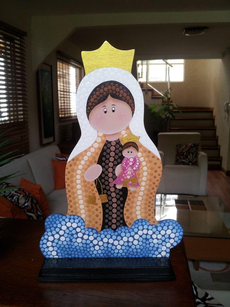 Virgen del Carmen en puntillismo
