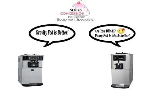Soft Serve & Frozen Yogurt Machines: The Differences Between Gravity & Pump Fed