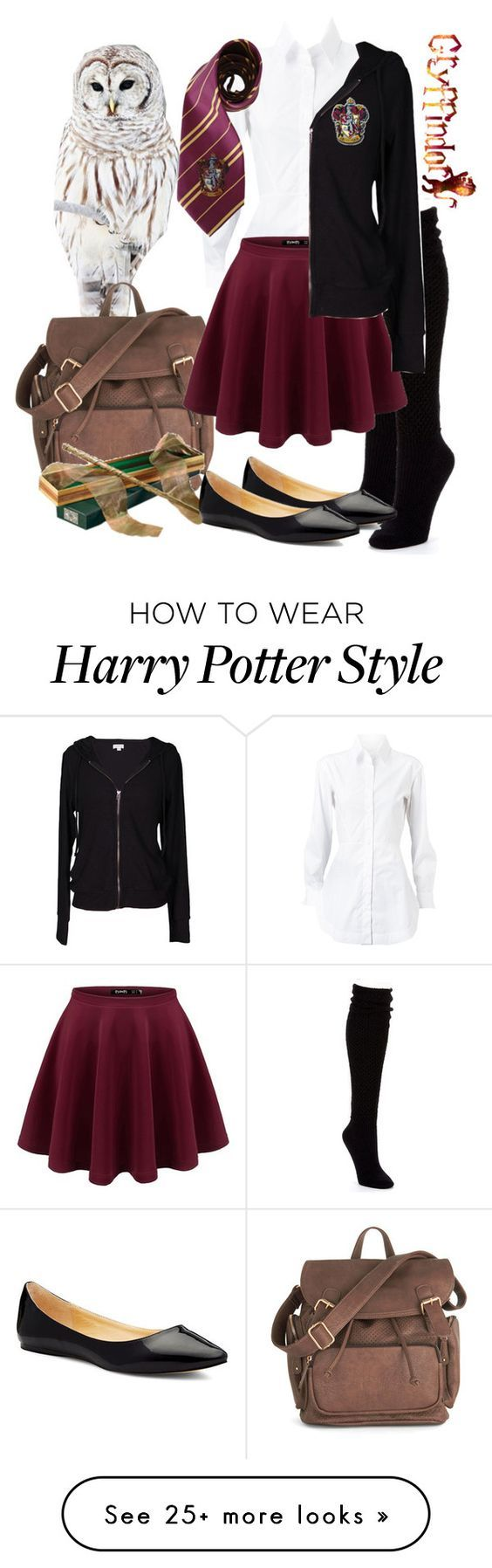 """Contest//MARGARITA'S WORLD DOMINATION TOUR ROUND 1"" by elisa-golden on Polyvore featuring Hue, Alaïa, Elope, Victoria's Secret, Velvet by Graham & Spencer, harrypotter, hogwarts, Gryffindor and mwdtone"