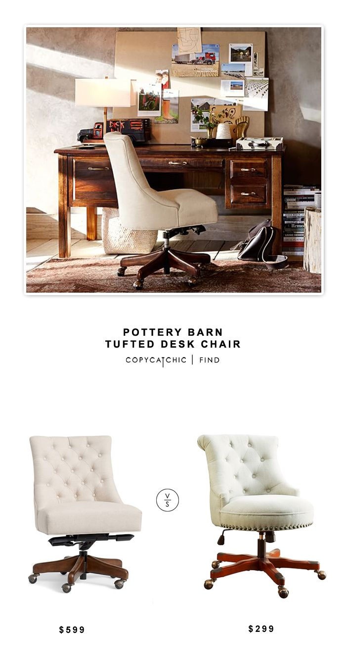 Pottery Barn Tufted Desk Chair