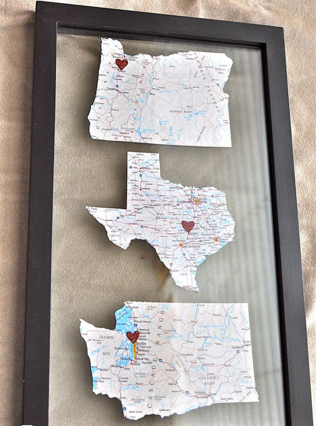 Show off all the cities you've lived in with this fun map DIY.