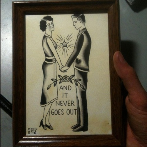 """This The Smiths print is adorable. Get it? """"There Is A Light That Never Goes Out"""" :)"""