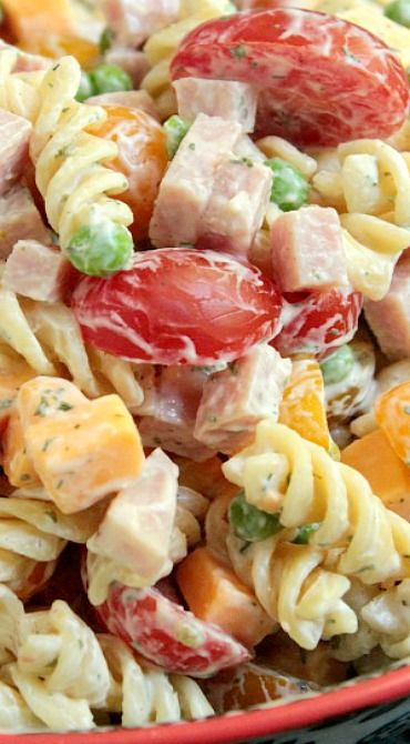 Greek Yogurt Ranch Pasta Salad (appetizers, side dish recipes)