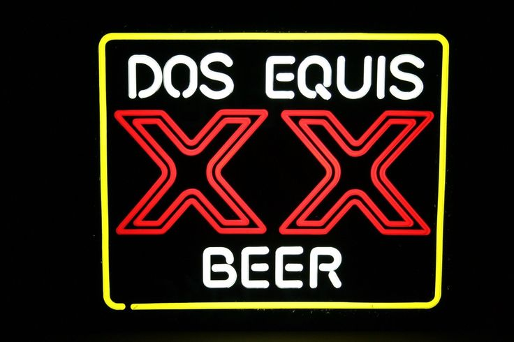 Vintage Dos Equis Xx Beer Bar Pub Light Bier Man Cave Garage Decore