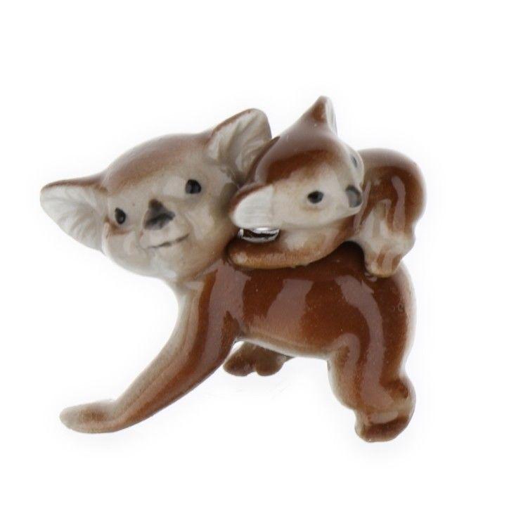 Hagen Renaker Miniature Koala Mama And Baby Ceramic Figurine Animal Figurines Koala Animals