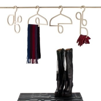 These coat hangers cleverly feature loops that allow you to add a scarf, gloves or shoes.