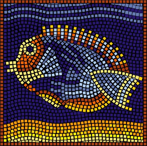 Swimming Fish Mosaic Mosaics Pinterest Mosaics Fish